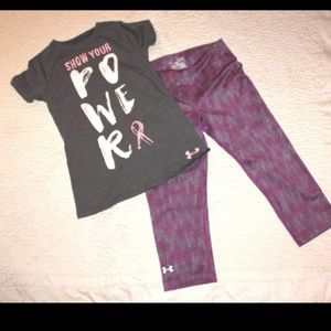 Under Armour Tee Capri Pants xsmall